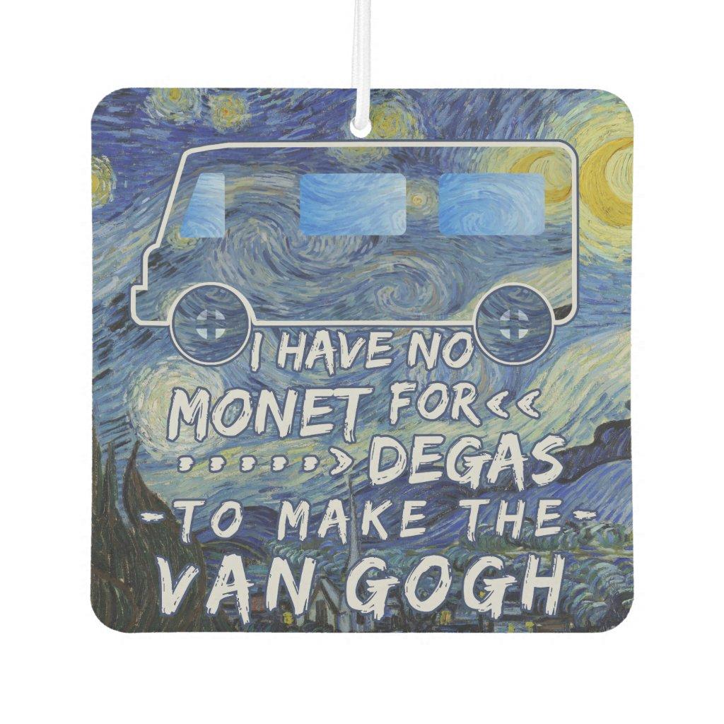 Van Gogh Monet Degas Funny Artist Pun Starry Night Car Air Freshener