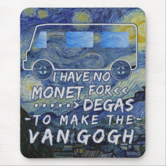 Van Gogh Monet Degas Funny Artist Pun Starry Night Mouse Pad