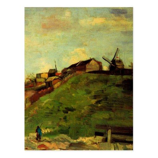 Van Gogh Montmartre: Mina, los molinos, bella arte Postal