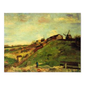 Van Gogh; Montmartre: Mina, los molinos Invitación 10,8 X 13,9 Cm