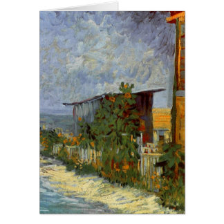 Van Gogh Montmartre Path with Sunflowers F264a Card