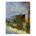 Van Gogh Montmartre Path with Sunflowers (F264a) Postcard