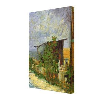 Van Gogh Montmartre Path with Sunflowers, Fine Art Canvas Print