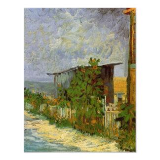 Van Gogh Montmartre Path with Sunflowers, Fine Art Card