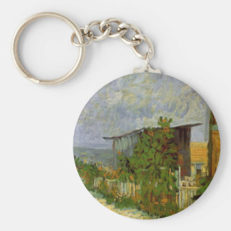 Van Gogh; Montmartre Path with Sunflowers Keychain