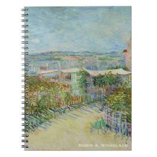 Van Gogh Montmartre Personalized Spiral Notebook