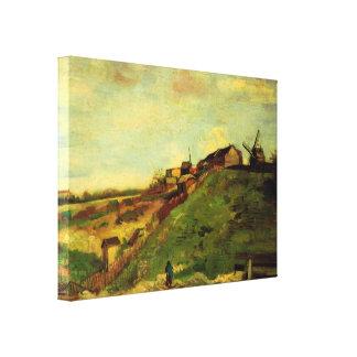 Van Gogh; Montmartre: Quarry, the Mills Stretched Canvas Print