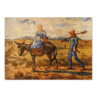 Van Gogh; Morning: Peasant Couple Going to Work Card