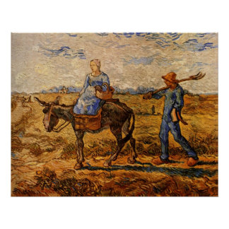 Van Gogh; Morning: Peasant Couple Going to Work Poster