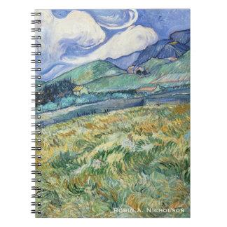 Van Gogh Mountainous Landscape Personalized Notebook