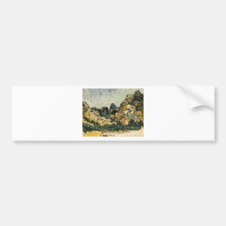 VAN GOGH - MOUNTAINS AT SAINT-REMY CAR BUMPER STICKER