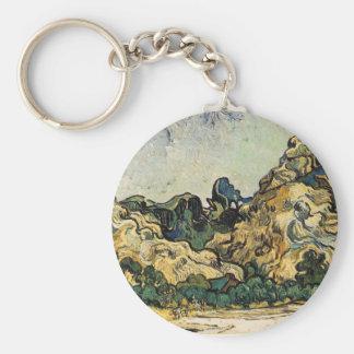 VAN GOGH - MOUNTAINS AT SAINT-REMY KEYCHAINS