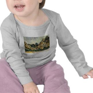 VAN GOGH - MOUNTAINS AT SAINT-REMY TSHIRTS