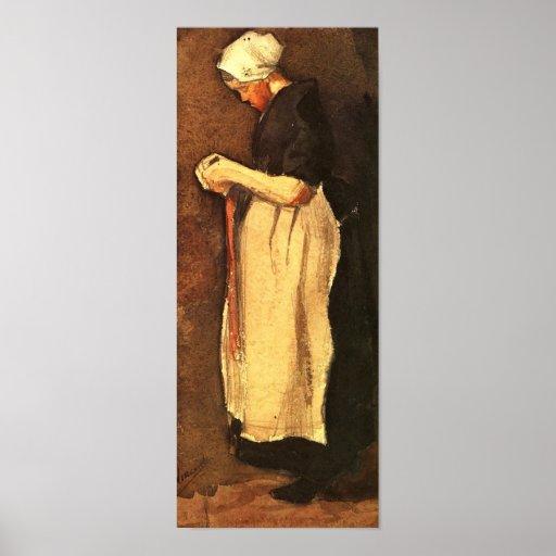 Van Gogh - mujer de Scheveningen Póster