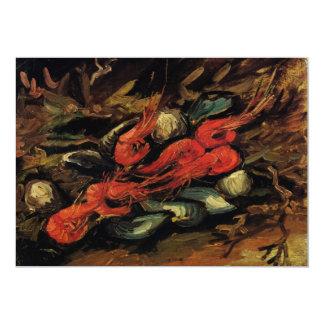 Van Gogh, Mussels and Shrimp, Vintage Still Life Card