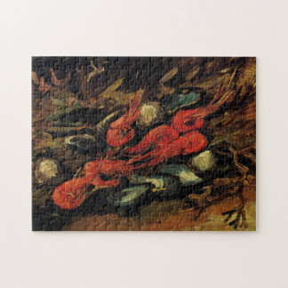Van Gogh, Mussels and Shrimp, Vintage Still Life Jigsaw Puzzle