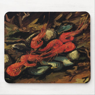 Van Gogh, Mussels and Shrimp, Vintage Still Life Mouse Pad