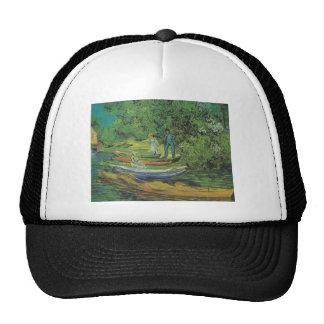 Van Gogh Nature Boat Lake Destiny Hat