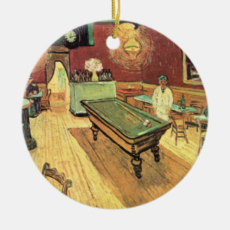 Van Gogh Night Cafe in the Place Lamartine, Arles Ceramic Ornament