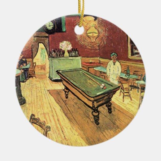Van Gogh Night Cafe in the Place Lamartine, Arles Ceramic Ornament