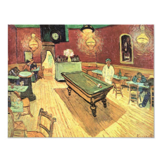 "Van Gogh; Night Cafe in the Place Lamartine, Arles 4.25"" X 5.5"" Invitation Card"
