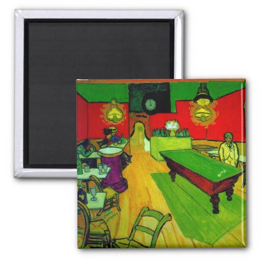 Van Gogh Night Cafe Place Lamartine (F463) 2 Inch Square Magnet