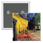 Van Gogh Night Cafe Terrace on the Place du Forum 2 Inch Square Button