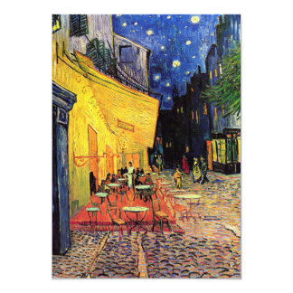 "Van Gogh Night Cafe Terrace on the Place du Forum 5"" X 7"" Invitation Card"