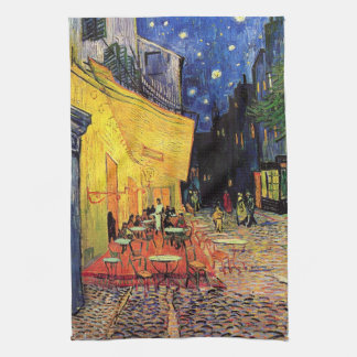Van Gogh Night Cafe Terrace on the Place du Forum Kitchen Towel