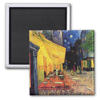 Van Gogh Night Cafe Terrace on the Place du Forum 2 Inch Square Magnet