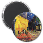 Van Gogh Night Cafe Terrace on the Place du Forum 2 Inch Round Magnet