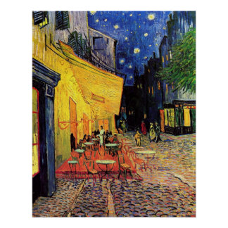 Van Gogh Night Cafe Terrace on the Place du Forum Poster
