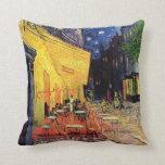 Van Gogh Night Cafe Terrace on the Place du Forum Throw Pillow