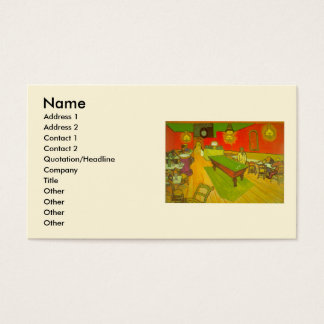 Van Gogh Night Cafe, Vintage Fine Art Business Card