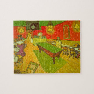 Van Gogh Night Cafe, Vintage Fine Art Jigsaw Puzzle