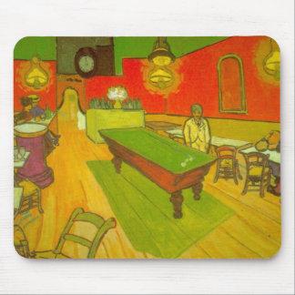 Van Gogh Night Cafe, Vintage Fine Art Mouse Pad