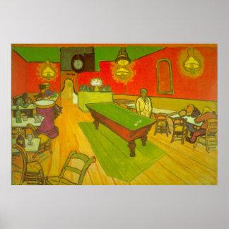 Van Gogh Night Cafe, Vintage Fine Art Poster