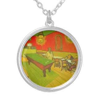 Van Gogh Night Cafe, Vintage Fine Art Silver Plated Necklace