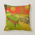 Van Gogh; Night Cafe, Vintage Impressionism Art Pillow