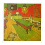 Van Gogh; Night Cafe, Vintage Impressionism Art Ceramic Tile