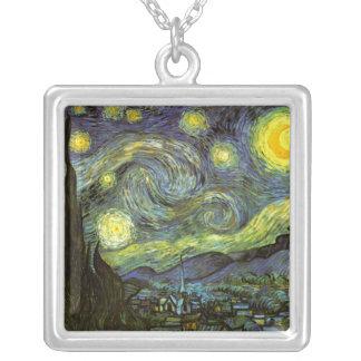Van Gogh: Noche estrellada Colgante Cuadrado