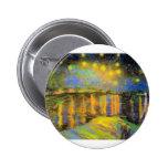 Van Gogh - noche estrellada en el Rhone Pin