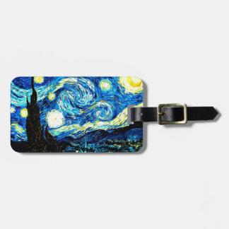 Van Gogh - noche estrellada Etiquetas Maleta
