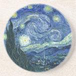 Van Gogh - noche estrellada Posavasos Manualidades