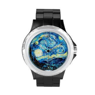 Van Gogh - noche estrellada Relojes De Pulsera