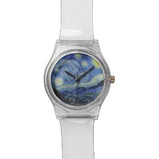 Van Gogh * noche estrellada Relojes De Mano