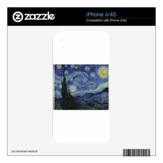 Van Gogh - noche estrellada Skin Para El iPhone 4