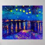 Van Gogh - noche estrellada sobre el arte pop de Posters