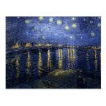 Van Gogh - noche estrellada sobre el Rhone (1888) Tarjeta Postal