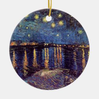Van Gogh; Noche estrellada sobre el Rhone, arte de Adorno